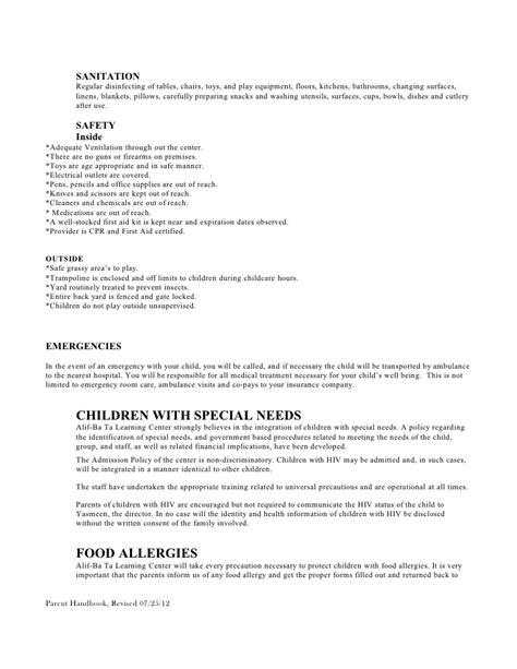 policy handbook preschool 434 | policy handbook preschool 15 728