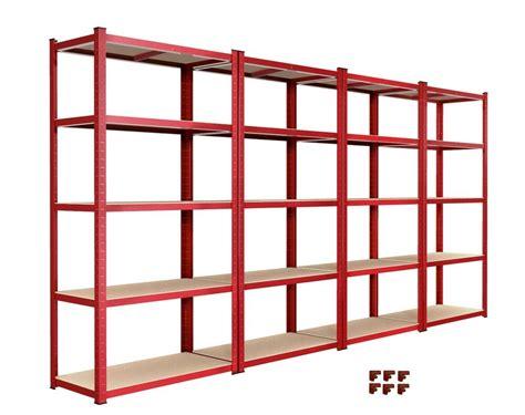 bay garage shelving unit heavy duty  tier shelf steel