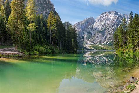Lake Braies Dolomites Italy Alpine Countries Iii