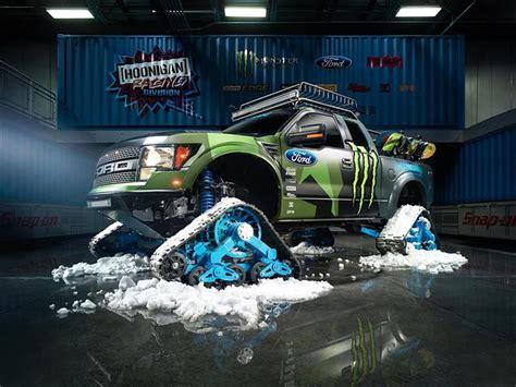 ford   svt raptor trax  la nieve  preparada por