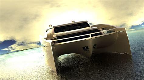 Cost Of Catamaran by Luxury Superyacht Shaped Like Catamaran Boasts Gymnasium