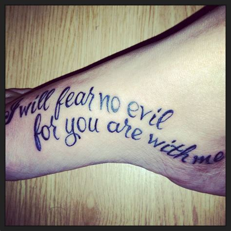 foot tattoo   psalm verse tattoo ideas verse