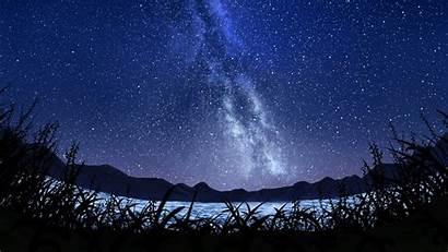 Sky Starry Milky Way Landscape 5k Wallpapers