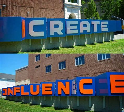 pennsylvania college of and design big words newly installed sign created for pennsylvania