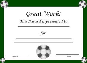 Free Printable Soccer Certificates for Kids