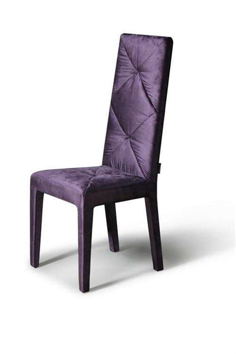 soft silky feel purple dining chair with high comfortable
