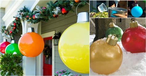 giant christmas ornaments diy crafts