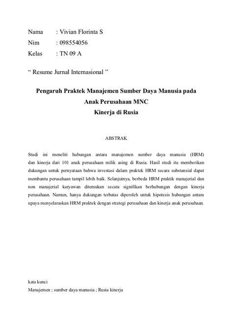 Contoh Resume Jurnal Nasional - Ahlipengertian.info