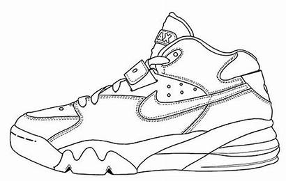 Nike Shoe Outline Template Shoes Outlines Clipart