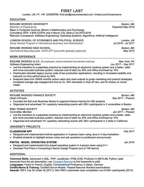 canadian resume format    resume examples