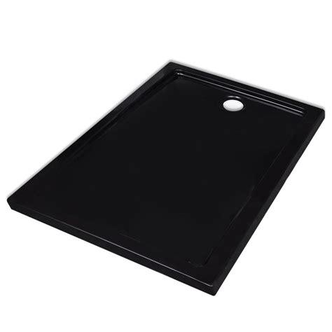 piatto doccia 90 x 70 piatto doccia rettangolare in abs nero 70 x 90 cm vidaxl it