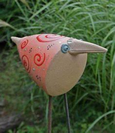 Keramik Für Den Garten : keramik vogel f r den garten frech und lustig von starke keramik auf t pferei ~ Buech-reservation.com Haus und Dekorationen