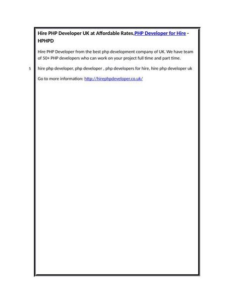 hire php developer uk  affordable ratesphp