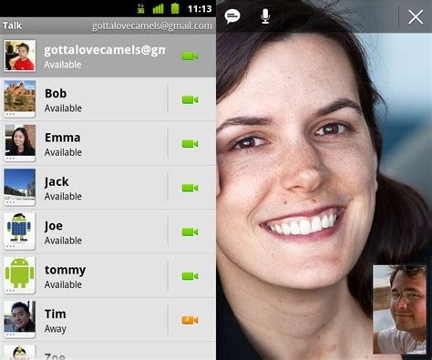 talk android talk for android now supports voice and chat