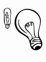 Coloring Bulb Halogen Pages Light sketch template