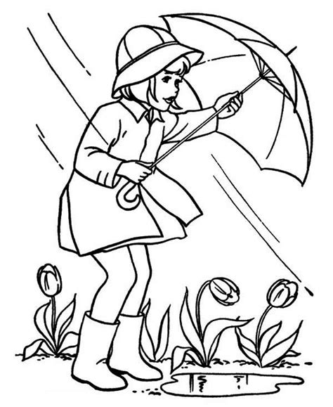 april showers coloring pages