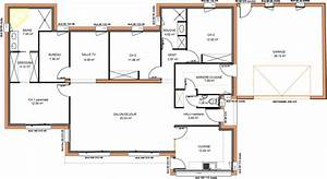 plan maison contemporaine plain pied 4 chambres maison With plan maison en l 100m2 11 modale de plans de villa de construction traditionnelle de