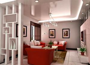 decorative plasterboard partition walls with shelves in ...
