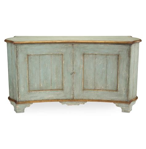 claude french country light blue gold gilded buffet