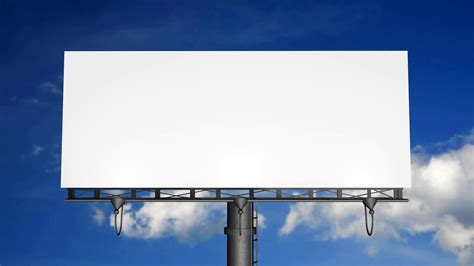 Billboard Template blank billboard  moving clouds motion background 1920 x 1080 · png