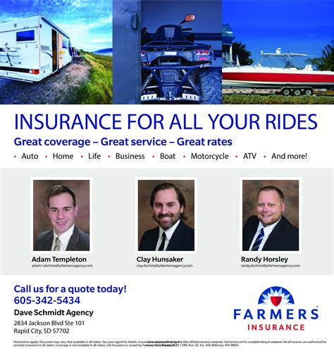We are an independent insurance agency that concentrates on helping you protect your property and. Adam Templeton - Farmers Insurance - Rapid City, South Dakota   Facebook