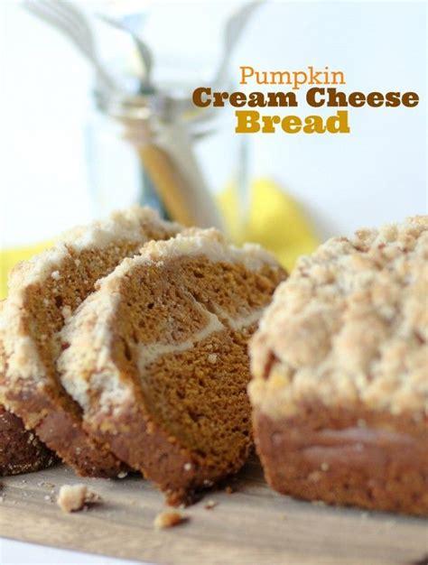 pumkin cheese pumpkin cream cheese swirl bread recipe dishmaps