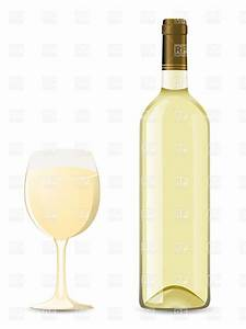 Bottle and glass of white wine Vector Clipart Image #19170 ...
