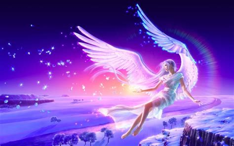 cute anime angel wings wallpaper  hd background