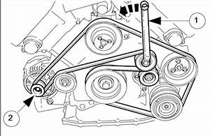 alternator replacement how to remove the drive belt With jaguar engine tools