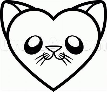 Draw Heart Cat Step Drawing Fire Easy