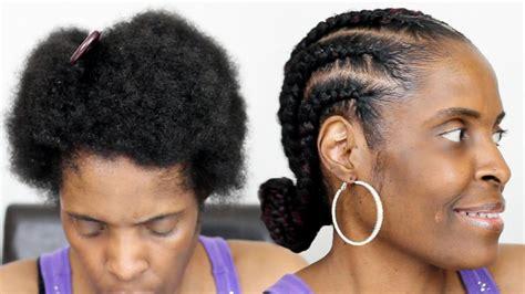 Feed In Braids On Short Natural Hair Jumbo Cornrows On Twa