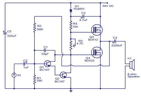 Wiring Schematic Diagram Watts Mosfet Audio Amplifier