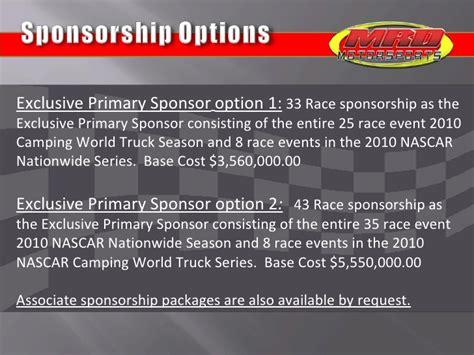 nascar team mrd motorsports sponsorship