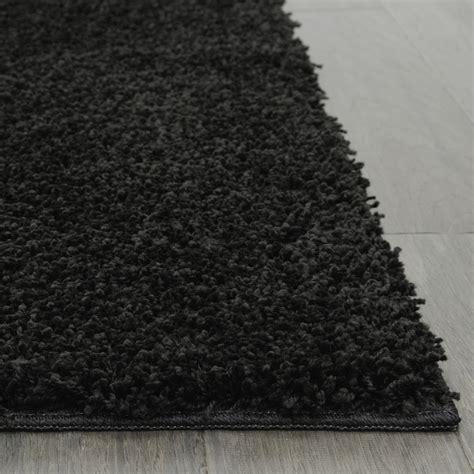 black shag rug living room 5x8 area rug home decorative rich black