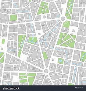 City Map  Seamless Vector Wallpaper  All Elements And