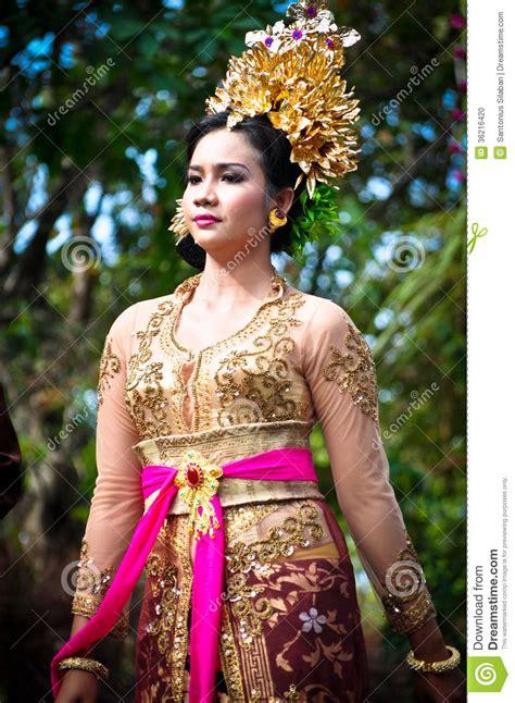 balinese girl  traditional dress editorial image