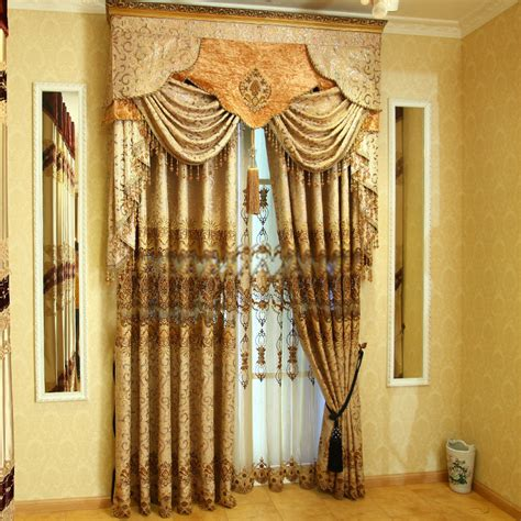 contemporary style curtains of fancy chenille jacquard fabric