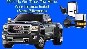 Sierra Silverado Tow Mirror Oem Wire Harness Install 2014-up