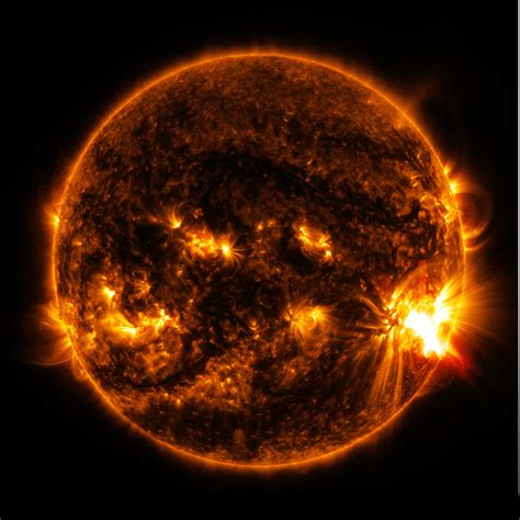 Nasa's Sdo Observes More Flares Erupting From Giant