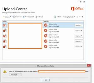 upload failed sign in required office documents not With upload required documents