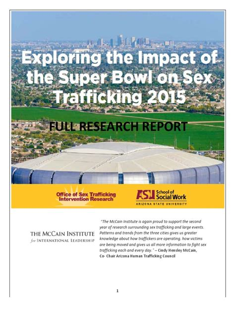 Exploring The Impact Of The Super Bowl On Sex Trafficking
