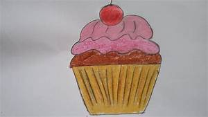 How to draw new year cupcake with basic shapes,easy ...