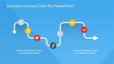 flat business journey chart powerpoint template slidemodel