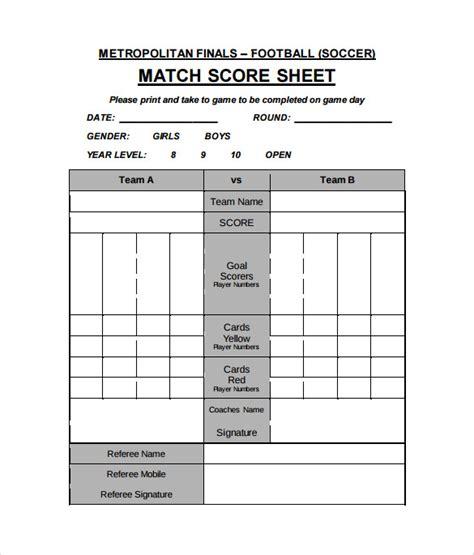 FREE 11+ Football Score Sheet Templates in Google Docs ...
