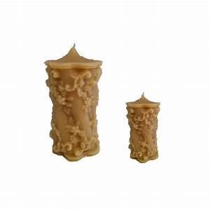 Kerzen Aus Bienenwachs : floral motiv runde wachskerze kerze mit blumenmotiv aus bienenwachs 1004132 1 ~ A.2002-acura-tl-radio.info Haus und Dekorationen