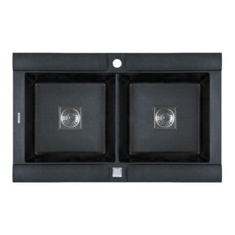 pegasus drop in granite 33 in 1 hole double bowl kitchen