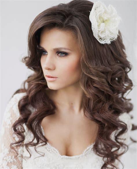 voluminous curls elegant wedding hairstyle idea