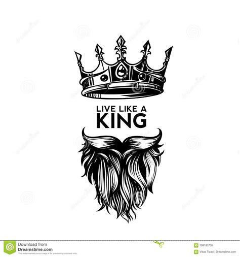 King Crown, Moustache And Beard Logo Vector Illustration ...