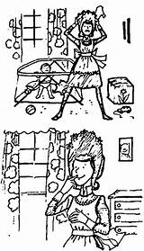 Coloring Amelia Bedelia Think Child Pages Wecoloringpage sketch template