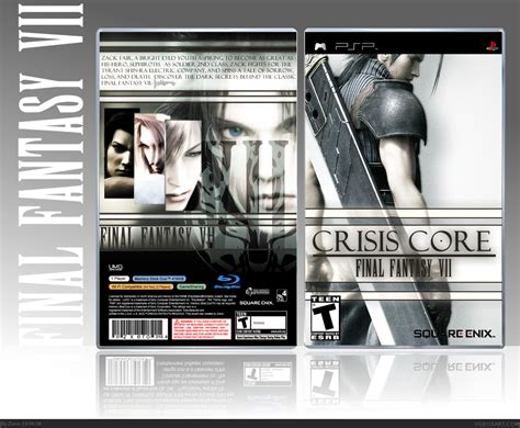 Viewing Full Size Crisis Core Final Fantasy Vii Box Cover